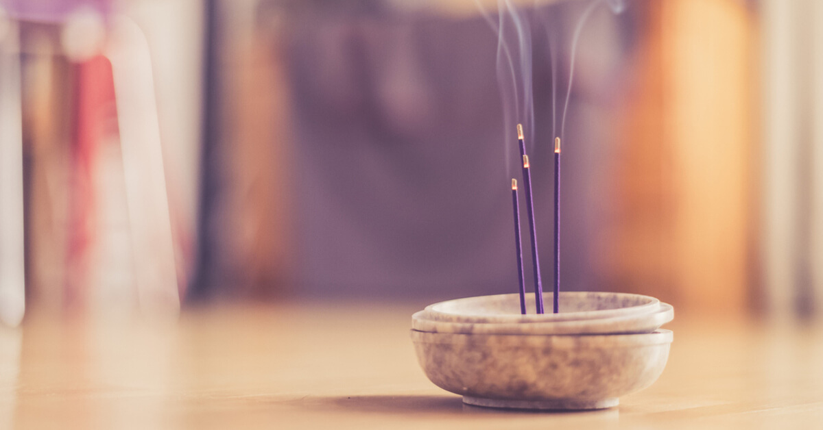 Burning incense sticks indoor can compromise home safety