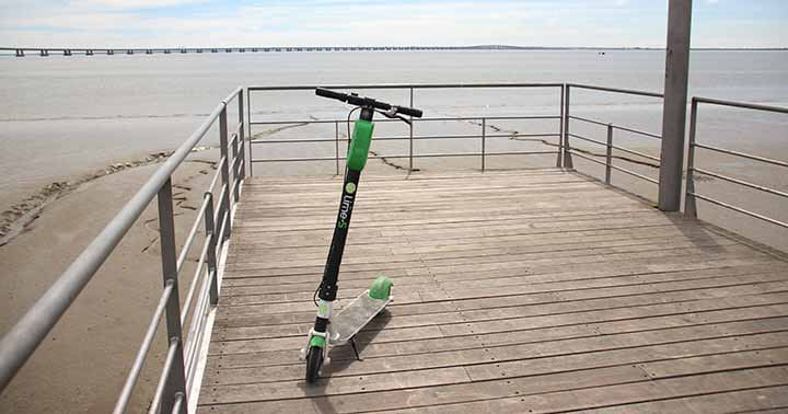 PMD scooter in a park by the beach