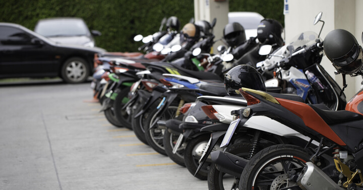 The basic cost of motorcycle differe between different types of motorcycles